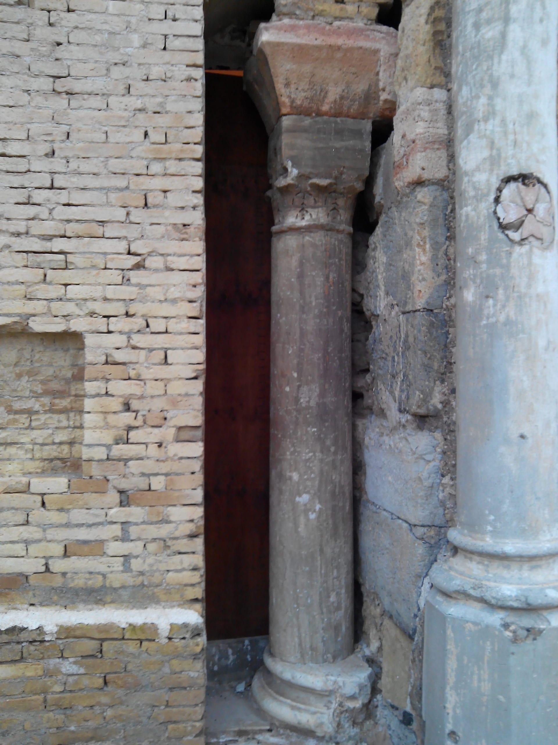 Columna bizantina de la Catedral vieja de Cartagena