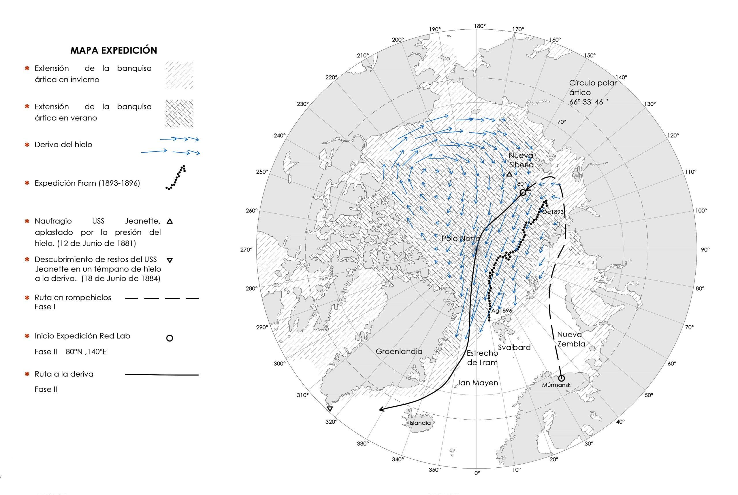 Mapa de la Expedición Red Lab