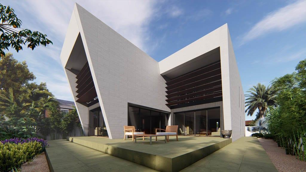 Viviendas adosadas en Murcia. Arquitectura en la huerta de Murcia