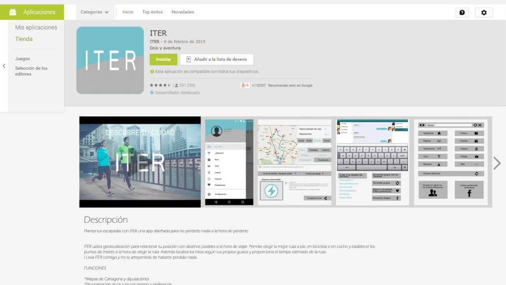 App para corredores en Cartagena