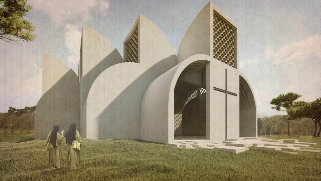 Templo católico en Ruanda