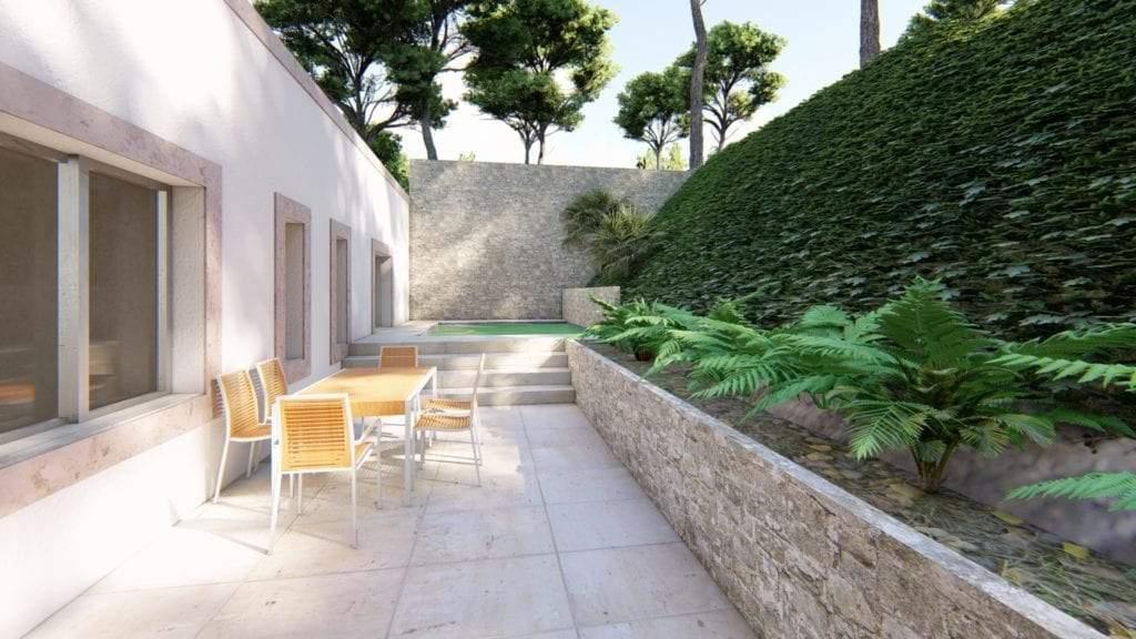 Vivienda unifamiliar situada en Murcia en una colina de roca caliza. Situada en urbanización Montepinar.
