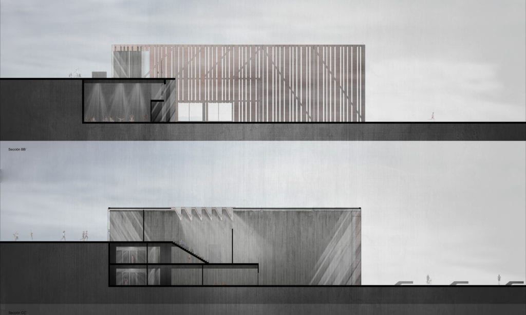 Centro de deportistas en Mazarrón arquitectura on