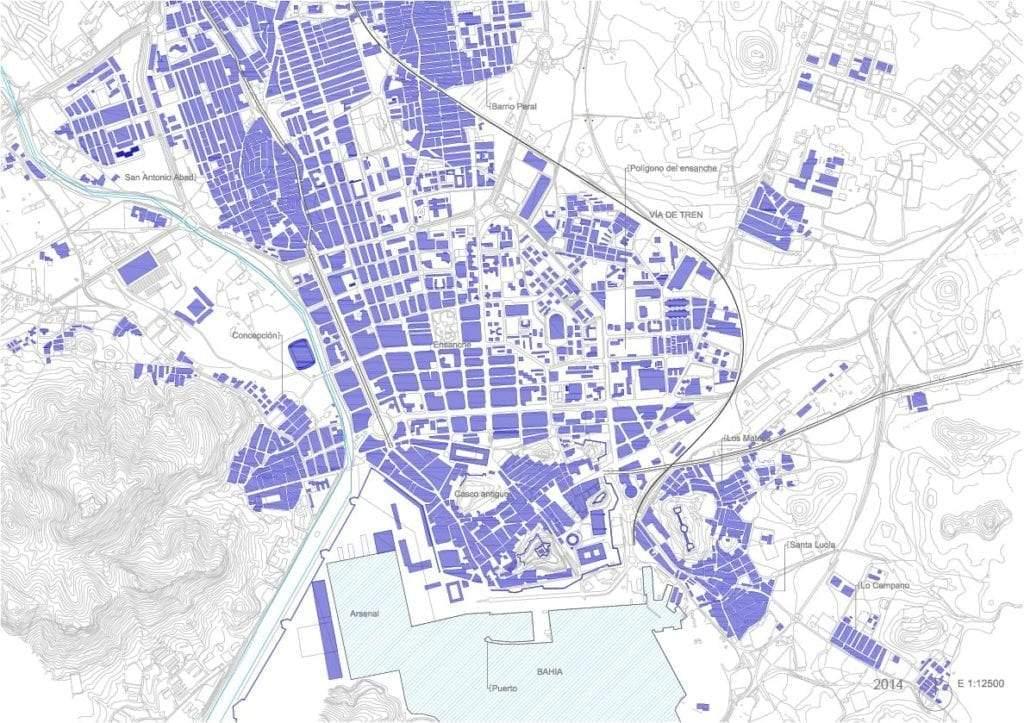 Trama urbana de Cartagena 2014