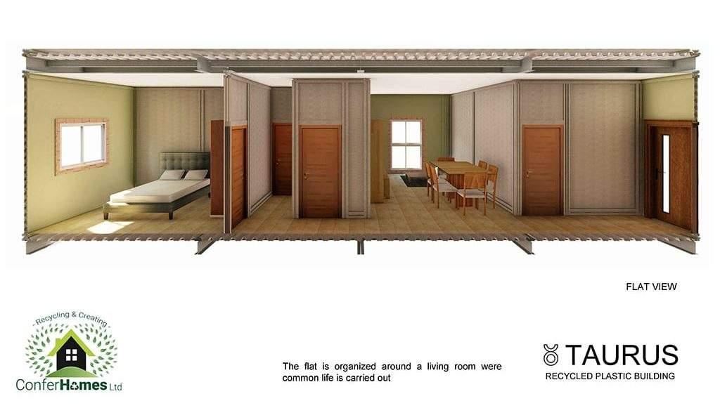 seccion de vivienda tipo sistema bloqueplas