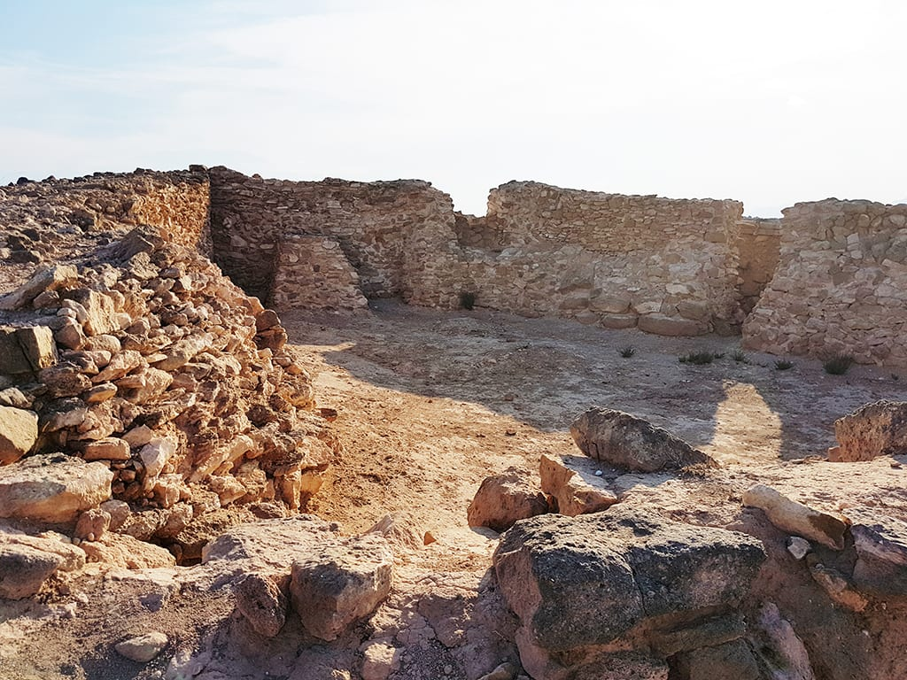 Interior fortificación Cabezo pequeño del Estaño. S. VIII a.C.