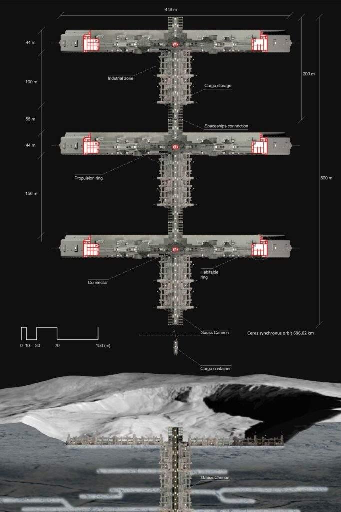 Estación minera Hades en Ceres