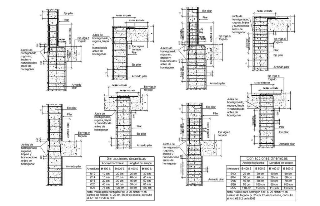 armaduras de pilares